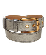 Prada Silver Leather Belt (Size 85) - $195.00