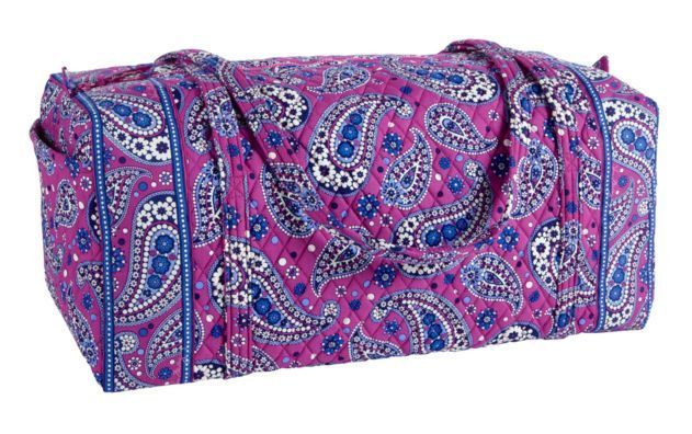 NEW Vera Bradley XL Duffel Travel Bag in Boysenberry $108 NWT