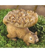 Bird Feeder with helping Squirrel resin  - $6.39