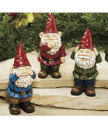 Set of 3 See, Speak, Hear Gnomes - $14.95