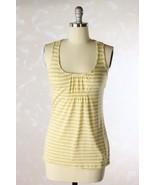 Anthropologie Little Yellow Button Beige Yellow... - $16.95
