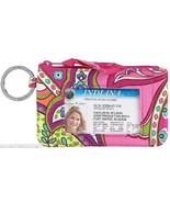 Vera Bradley Zip ID Case Pink Swirls Key Ring C... - $17.95