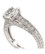 2 quilates anillo de compromiso VS1 antiguo del... - $2,783.51