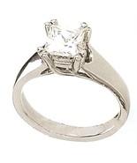 PRINCESA de compromiso de diamante solitario AN... - $7,007.90