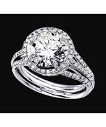 diamante redondo anillo de bodas de oro blanco ... - $4,801.83
