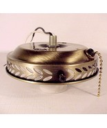 Antique Brass Finish Ceiling Fan Light Fixture ... - $10.00