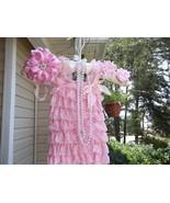 BABY GIRL SMALL LACY ROMPER, HEADBAND, BAREFOOT... - $16.00 - $19.00