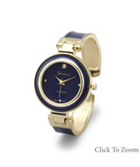 Geneva Brand Blue Epoxy Cuff Watch - $46.98