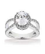 Oval geschliffener Diamant-Verlobungsring Diama... - $2,554.00