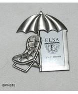 Elsa L Metal Beach Umbrella Photo Frame - $10.99
