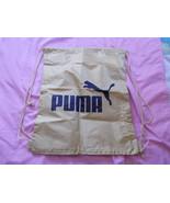 Puma Gold and Black Drawstring Gym Tote Back Pa... - $13.86