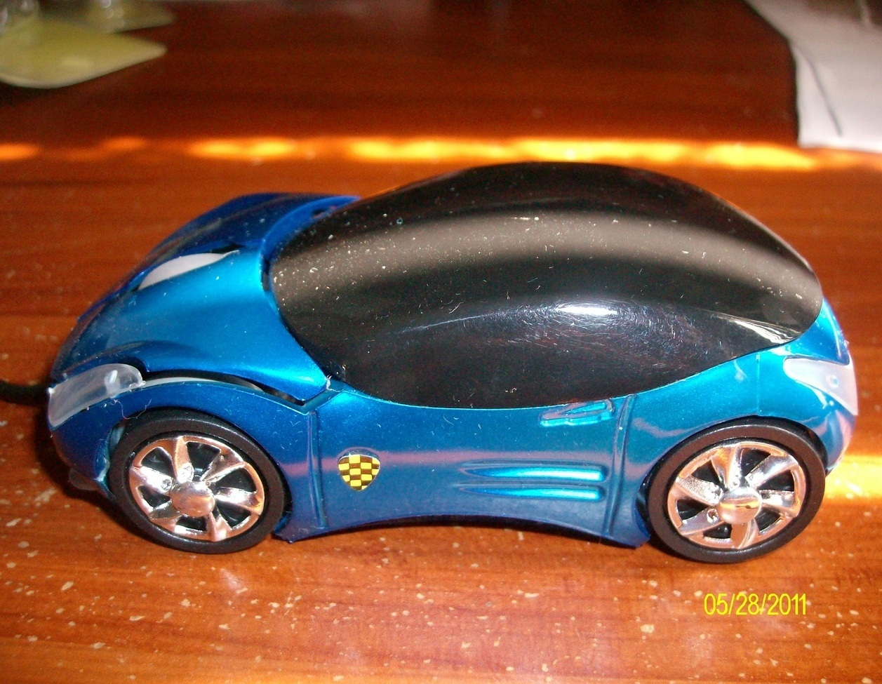 USB 3D Blue Car Shape Optical mouse Mice for PC or Laptop