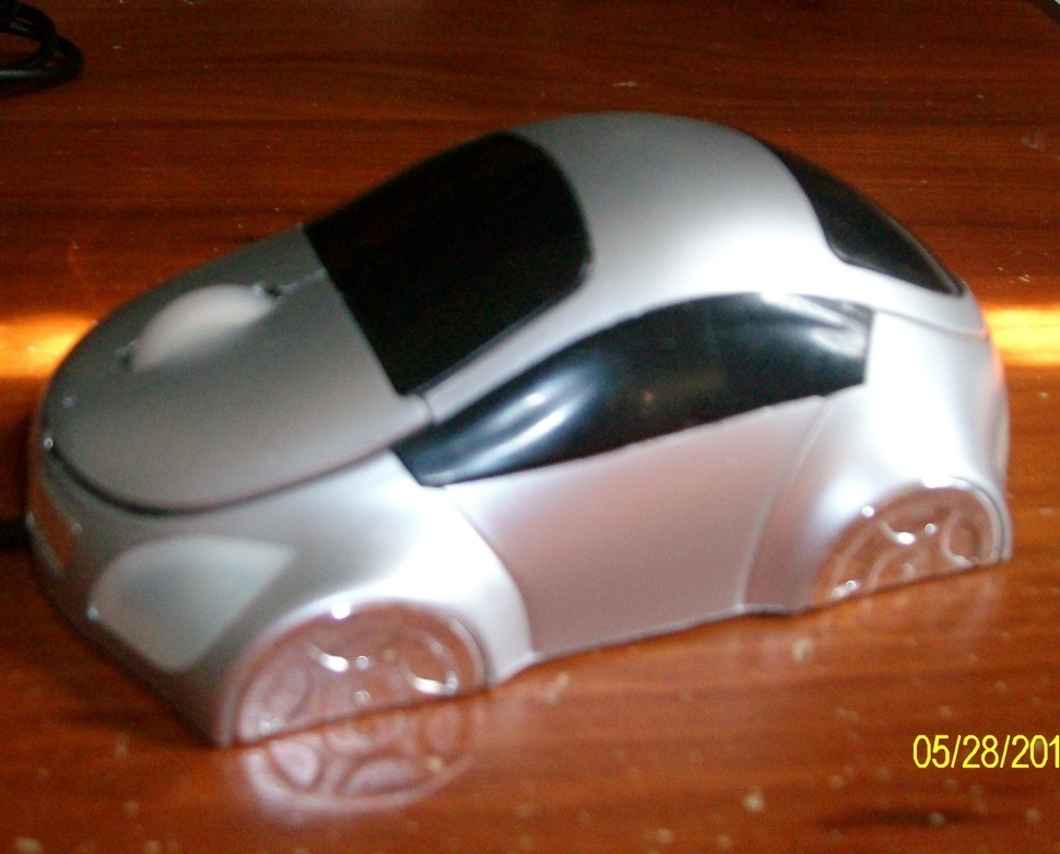 NEW USB 3D Car Shape Silver  Optical Mouse Mice for Laptop or PC