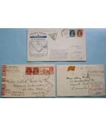 India 1939 & 1942 Sea Mail Censored Covers to U... - $24.74