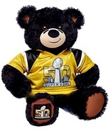 Build a Bear Super Bowl 50 Black Teddy Gold Jer... - $189.95