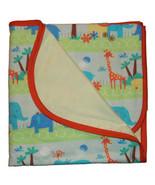 Newborn Baby Boys Jungle Flannel Receiving Blanket - $17.00