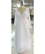 Plus Size Wedding Dresses with Long Sleeves - D... - $1,050.00
