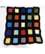 "Granny Square Crocheted 45"" x 45"" Lap Blanket - $15.99"