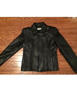 Jones Wear Sport Black Leather Medium Jacket - $24.50