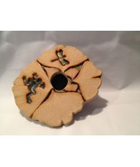 Ikebana Meyer Pottery Flower Frog Dragonfly - $19.06