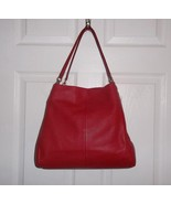 Coach Madison Phoebe Red Pebbled Leather Should... - $179.99