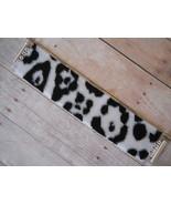 Leopard Print Peyote Stitch Cuff Bracelet, Blac... - $49.00