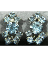 Gorgeous Vintage Pale Blue Prong Set Rhinestone... - $15.99