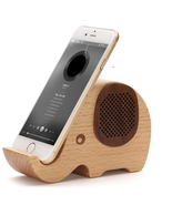 Wooden Elephant Shaped Bluetooth Speaker Mobile... - $63.00