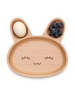 Rabbit Shaped Wooden Kid's Plate - $24.00