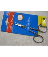 cuticle scissors New Chrome Stainless St Cuticl... - $7.95
