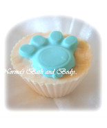 pet paw cupcake soap, bulk cupcake soap, dog pa... - $112.50