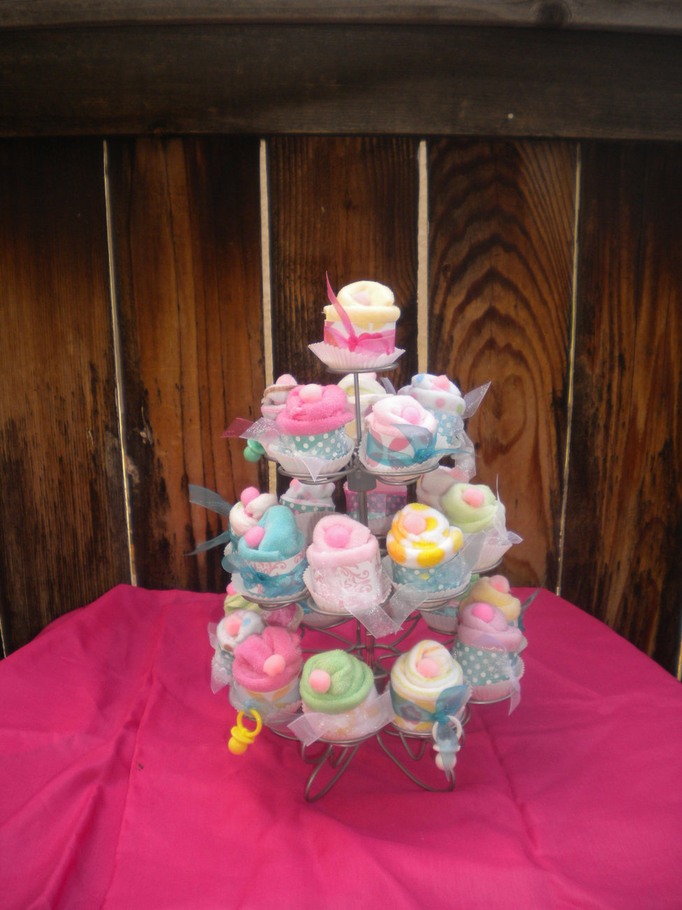 Baby Shower Favors Washcloth Cup Cakes 24 pieces