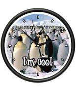 PENGUIN Wall Clock emperor penguins animal deco... - $19.78