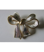 Retro / Vintage Napier Two Toned Bow Pin - 1960s - $12.00