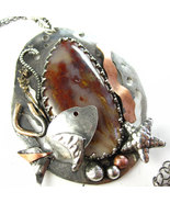 Under the Sea - Sterling, Copper and Red Plume ... - $234.00