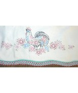 Set of Two Vintage Hand Embroidered Rooster Pil... - $12.99