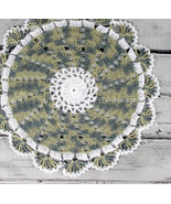 Lovely Crocheted White Variegated Avocado Sage ... - $14.00
