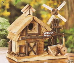 Put Your Own Barnyard Wood Birdhouse In Your Tree