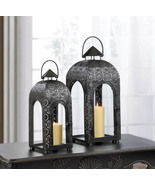 2 Black Lace Medallion Lanterns - $54.00