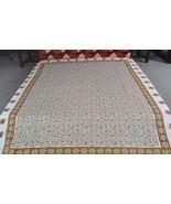 Queen Hand Printed Bedspread Coverlet Bedcover ... - $42.75