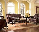 Buy Luxury Leather Sofa Couch Living Room Furniture Office