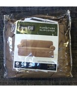 SURE FIT slipcover SOFA cocoa natural BEIGE 60%... - $60.00