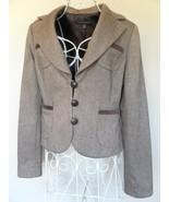 Banana Republic BLAZER jacket BROWN TAN herring... - $30.04
