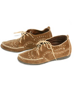 Minnetonka Moccasins Dark Tan Suede Ankle Heigh... - $24.99