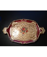 Vintage Italian hand painted paper mache tray  - $16.20