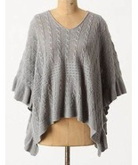Anthropologie Moth Gray Arched Ripples Cable Kn... - $27.96