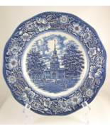 Liberty Blue Independence Hall Staffordshire ir... - $15.00