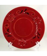 Deruta Italy pottery red black white plates set... - $25.00