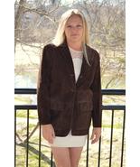 Lauren by Ralph Lauren Brown Suede Leather Jack... - $50.00