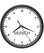 MUNICH TIME Wall Clock world time zone clock of... - $18.79